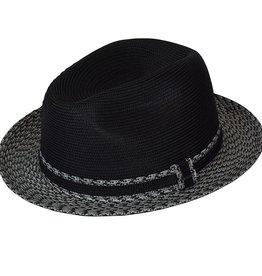 Bailey Hat Co. HAT-FEDORA-MANNESROE BLK/CHARCOL