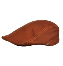 Bailey Hat Co. HAT-FLAT CAP-HALLAM, LAMBSKIN LEATHER
