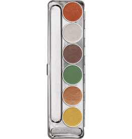 Kryolan PALETTE-AQUACOLOR INTERFERENZ, EARTHY GLOW, 6 CLR