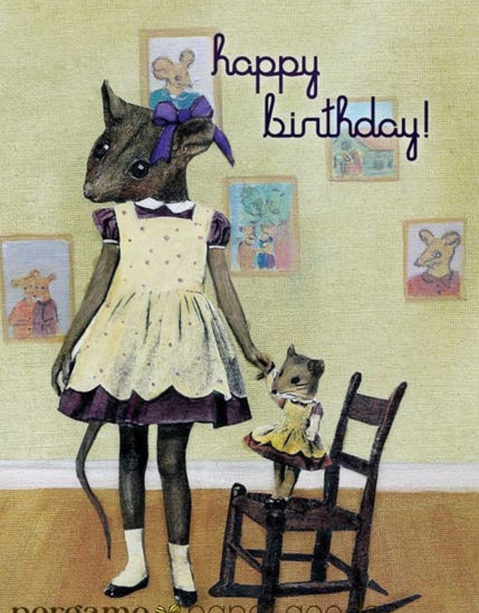 CARD-HAPPY BIRTHDAY MOUSE