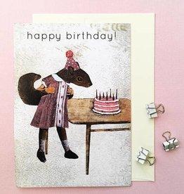 CARD-HAPPY BIRTHDAY SQUIRREL