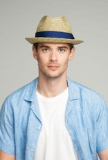 Bailey Hat Co. HAT-FEDORA-ROMEO, NATURAL RAFFIA STRAW