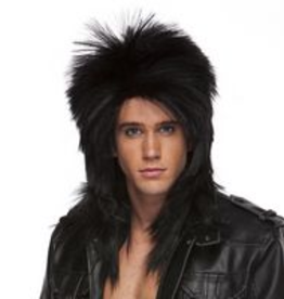 LONG ROCKER WIG, BLACK