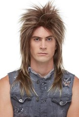 LONG ROCKER WIG, FROSTED BROWN