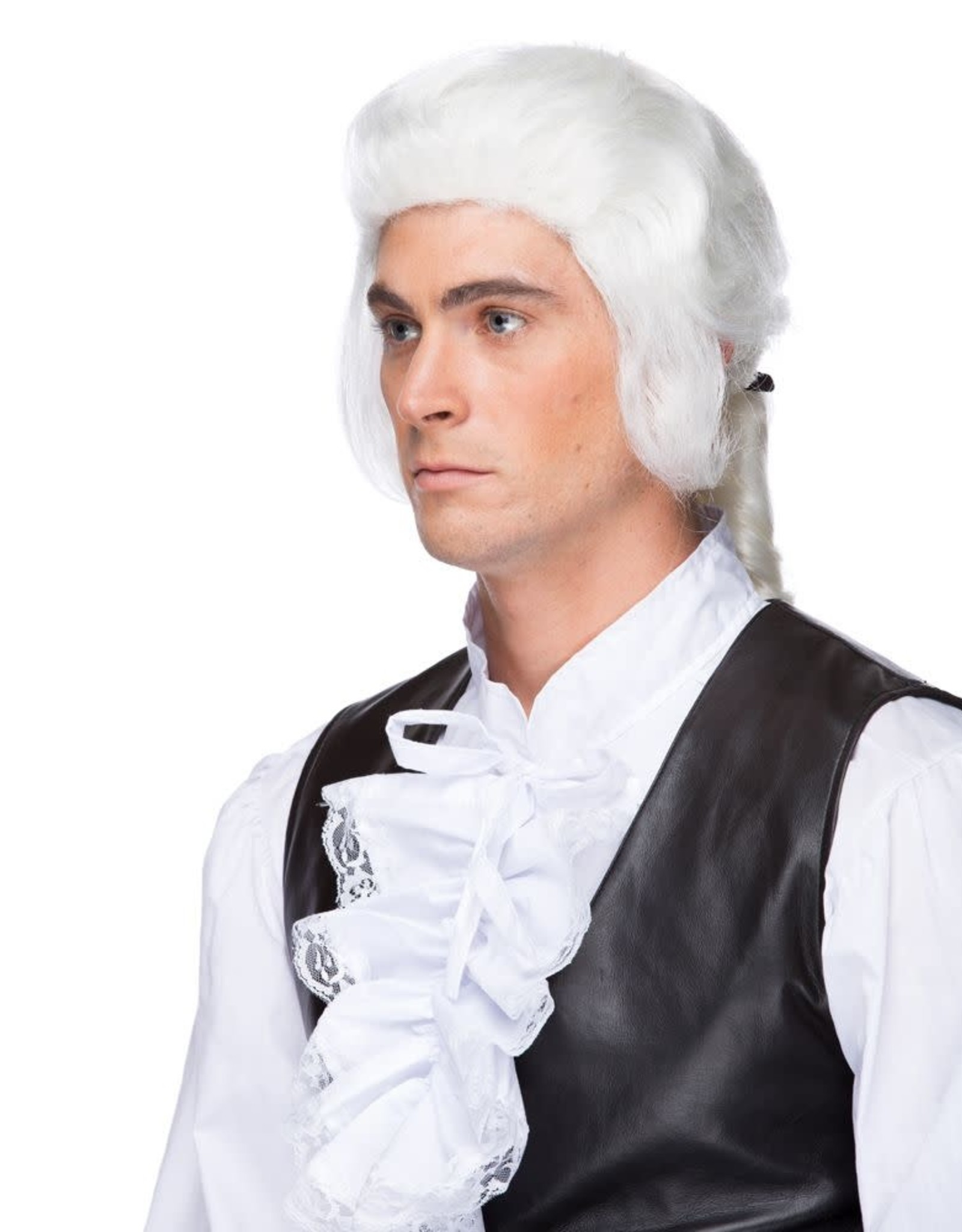 WIG-CTR-LORDSHIP W/BOW, WHITE