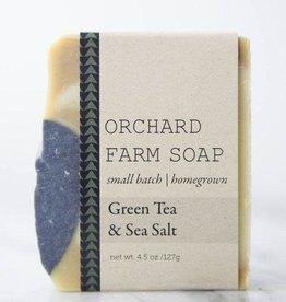 SOAP-GREEN TEA+SEA SALT W ACTIVATED CHARCOAL