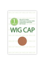 WIG CAP, DARK BROWN, 1 PC
