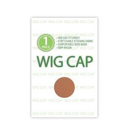 WIG CAP, DARK BROWN, 1 PC