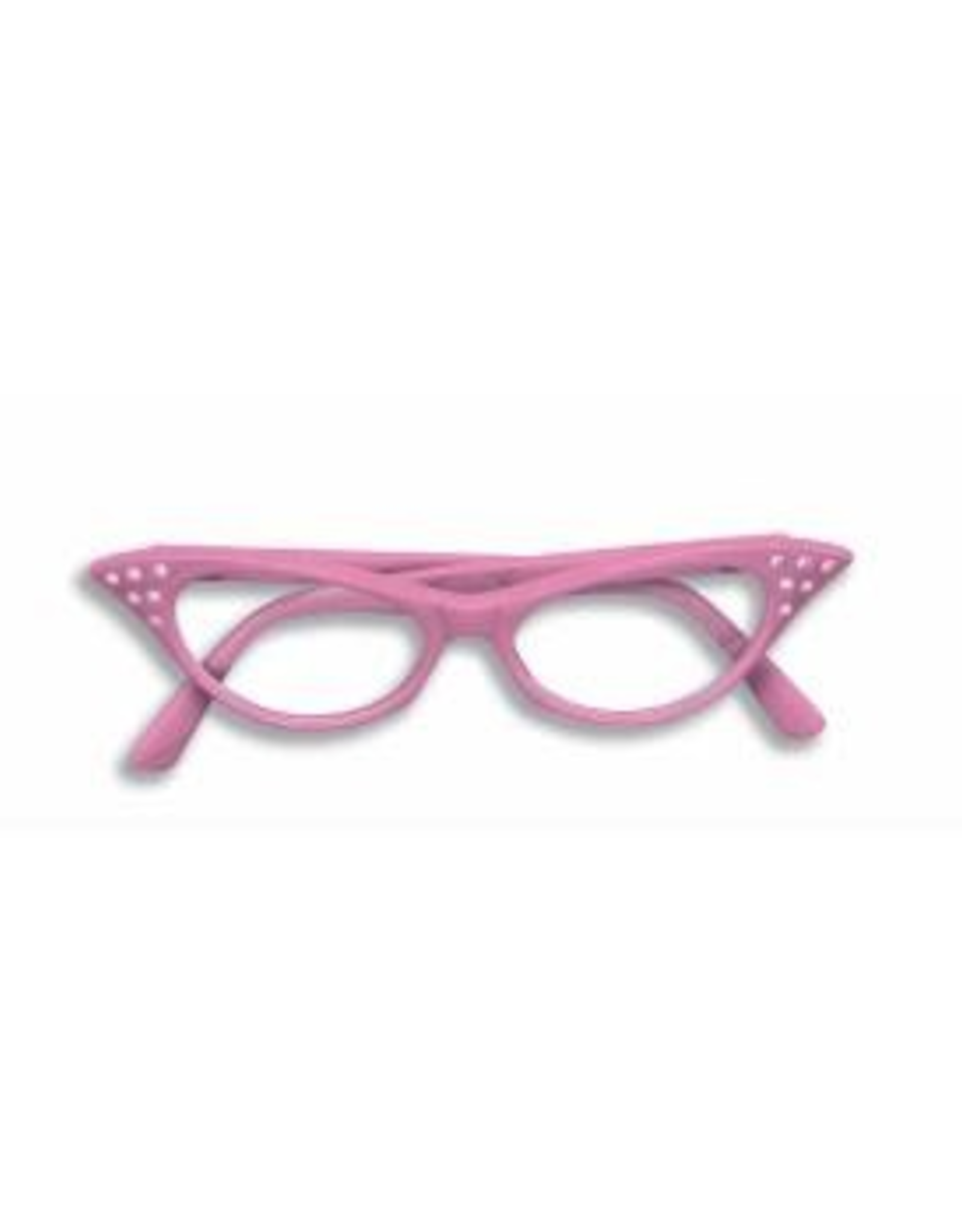 GLASSES-50'S RHINESTONECLEAR LENS, PINK