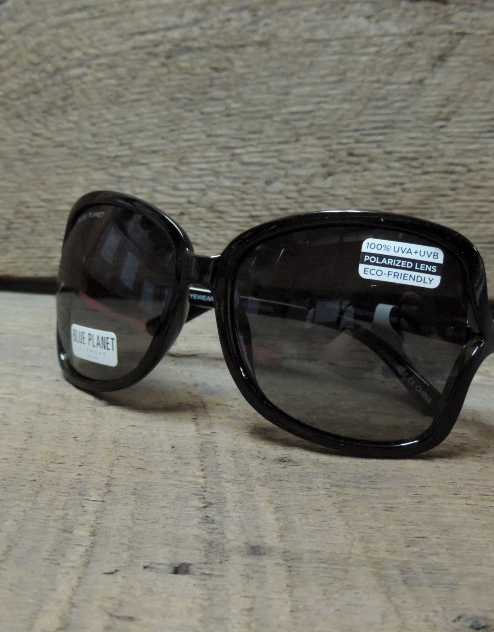 SUNGLASSES-POLARIZED-ANNE, BLACK ONYX, GRADIENT SMOKE