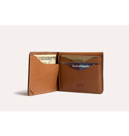 WALLET-SIMPLISTIC LEATHER, BROWN