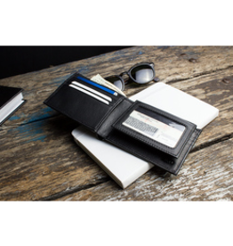 WALLET-TRADITIONAL BIFOLD, LEATHER, BLACK