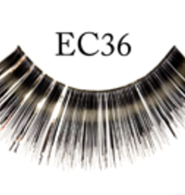 EYELASH-METALLIC, BLACK/SILVER