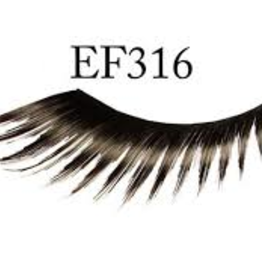 EYELASH-FEATHERED, BLACK