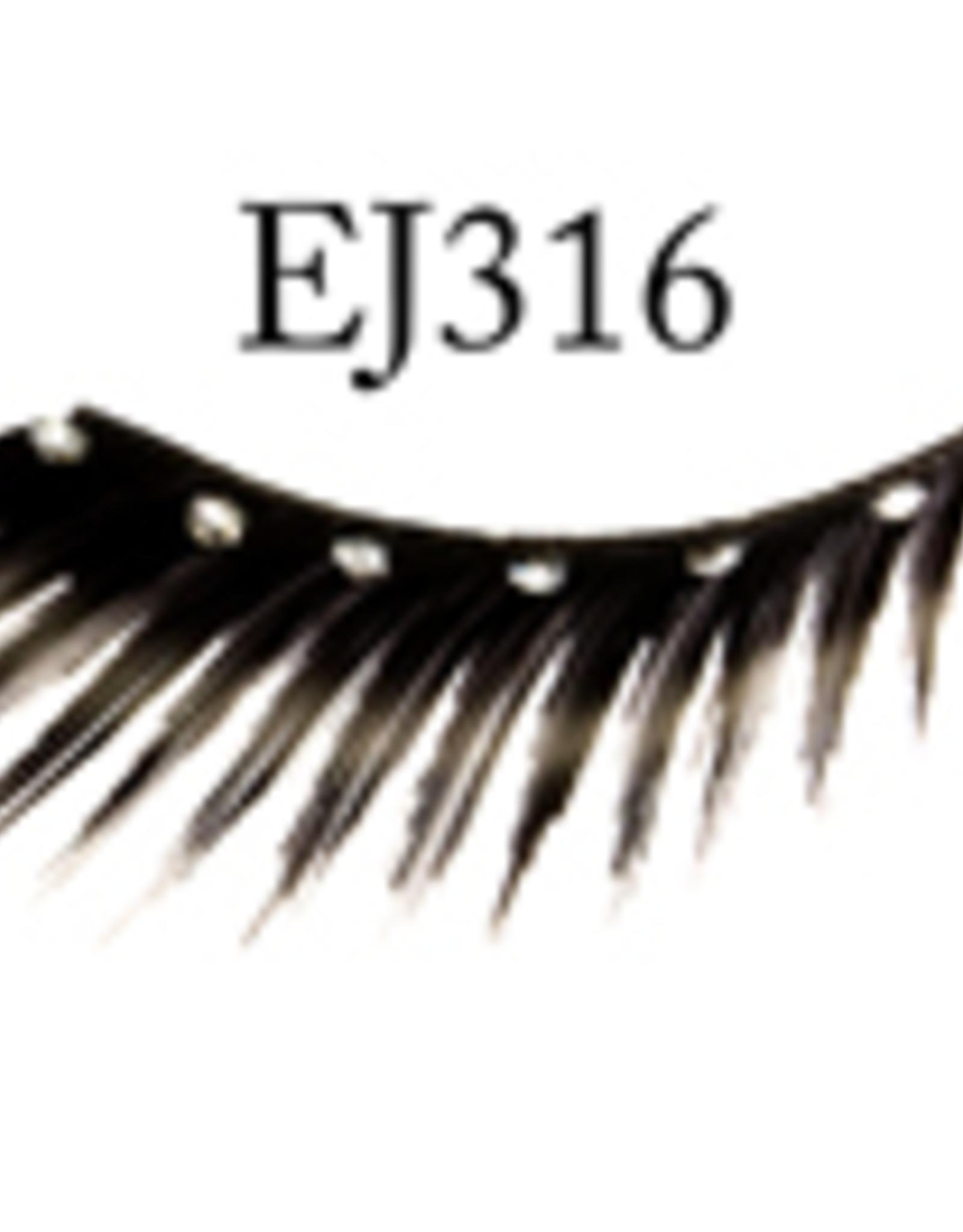 EYELASH-BLACK W/STONE #316