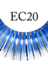 EYELASH-METALLIC, BLUE/GOLD