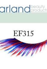EYELASH-FEATHERED, RED/BL