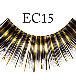 EYELASH-METALLIC, BLACK/GOLD