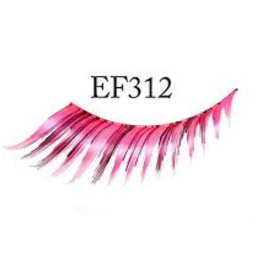 EYELASH-FEATHERED, PK/BLK