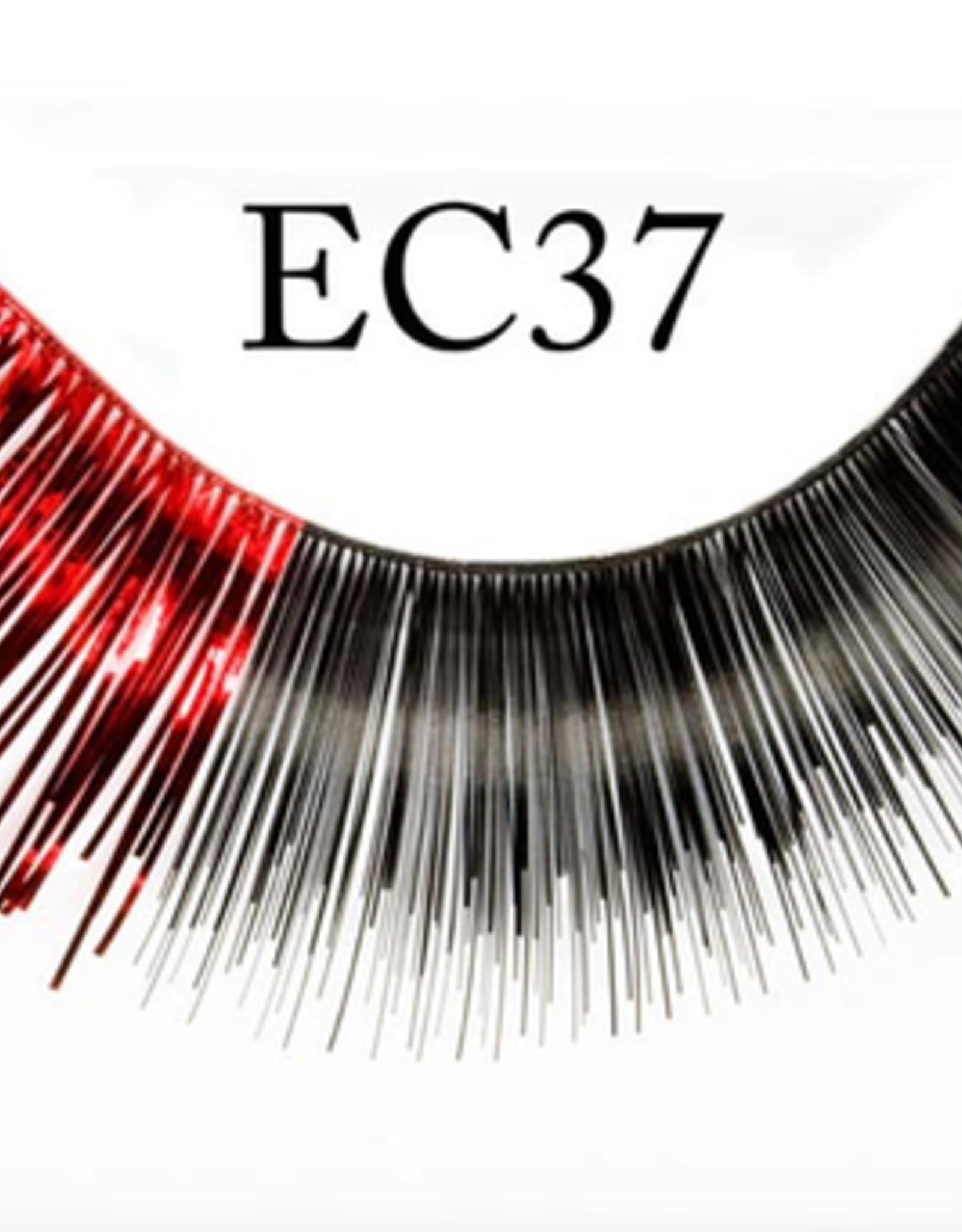 EYELASH-METALLIC, BLK/RED