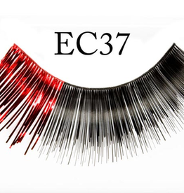 EYELASH-METALLIC, BLK/RED