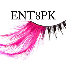 EYELASH-FEATHER, 8 BLK WHPK