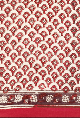 """SCARF-OBLONG-RED CLOVES, 15"""" X 72"""", COTTON VOILE"""