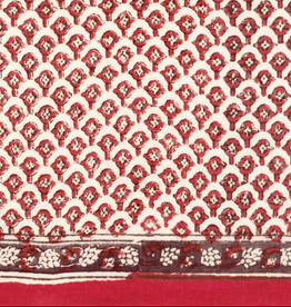 "SCARF-OBLONG-RED CLOVES, 15"" X 72"", COTTON VOILE"