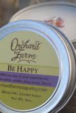 CANDLE-TRAVEL TIN, BE HAPPY