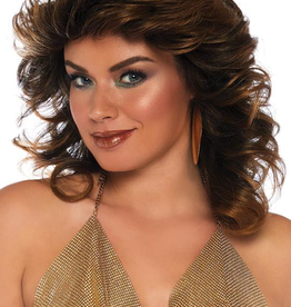 WIG-FARRAH, FEATHERED, BROWN