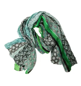 SCARF-COTTON-ANYA GREEN