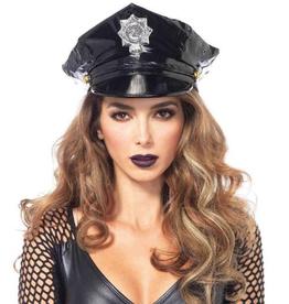 HAT-POLICE, VINYL, BLACK