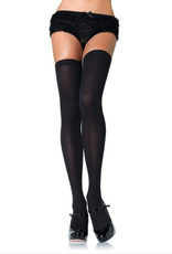 THIGH HIGH-OPAQUE NYLON BLK, PLUS SIZE*