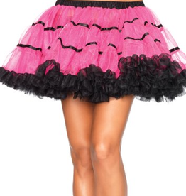 PETTICOATS-LAYERED SATIN STRIPED TULLE (A1711)