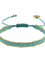 BRACELET-HAND BEADED-CHAINY ROW