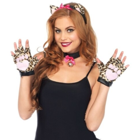 ANIMAL KIT-COUGAR, 3 PIECE, HEADBAND/COLLAR/GLOVES