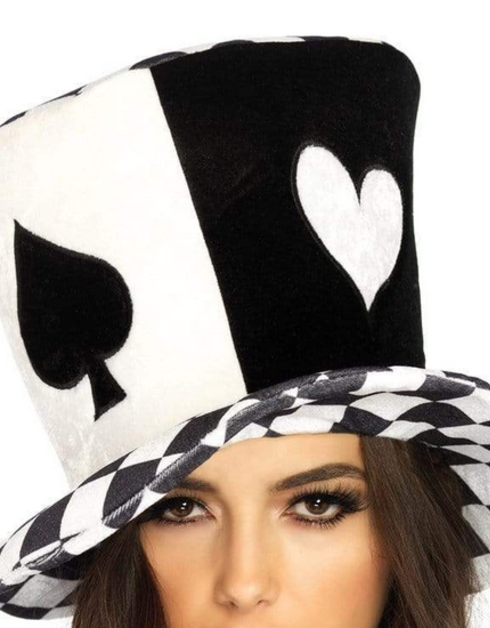 HAT- MAD HATTER, OVERSIZED, BLK/WHT