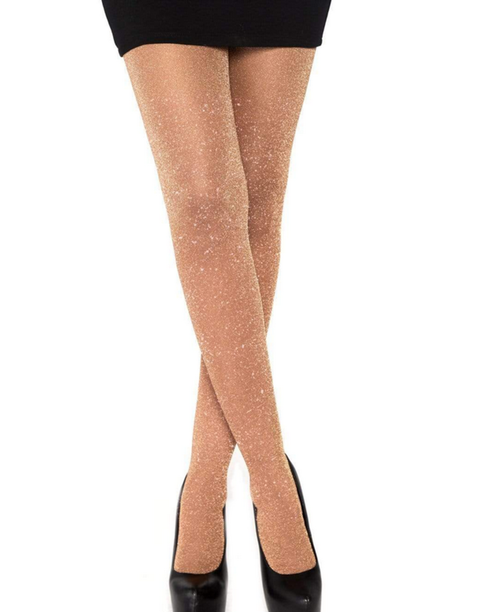 TIGHTS-LUREX TIGHTS, ROSE GOLD