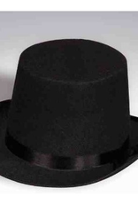 HAT-TOP HAT, BLACK FELT, O/S