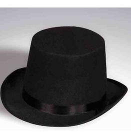 HAT-TOP HAT, BLACK FELT, O/S