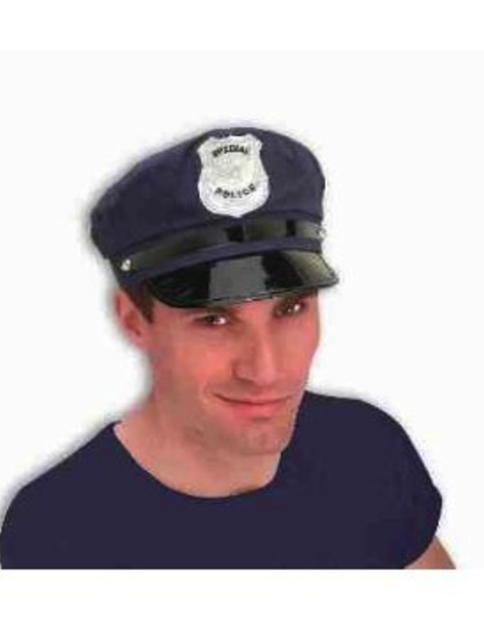 HAT-POLICEMAN, CLOTH,<br />BLUE