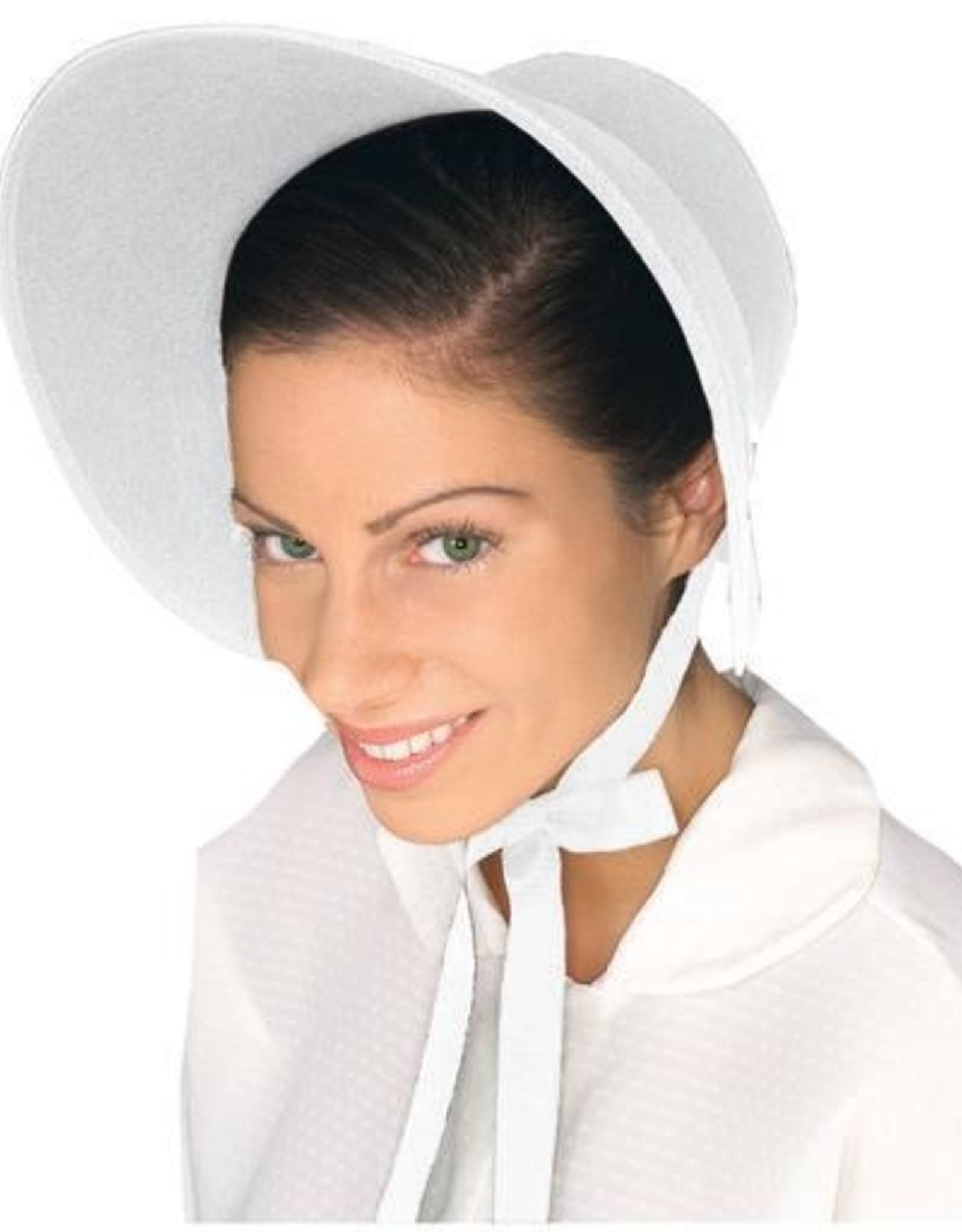 HAT-FELT BONNET, WHITE