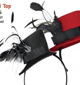 HAT-MINI TOP HAT W/FEATHERS