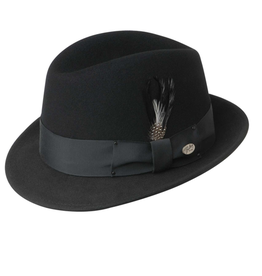 Bailey Hat Co. HAT-FEDORA-NEW YORKER, BLACK, SMALL