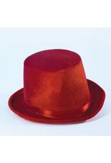 HAT-TOP HAT, DELUXE,RED