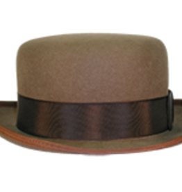 HAT-LOW DERBY, BROWN,7 1/8