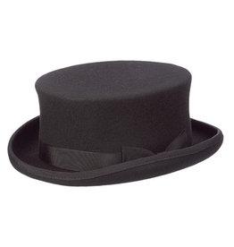 HAT-TOP HAT-HARWICK, SHORT STEAM PUNK, BLACK, X-LARGE