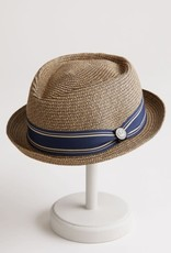 HAT-PORKPIE-BIG BOY KRIS-PAPER STRAW, MULTICOLOR