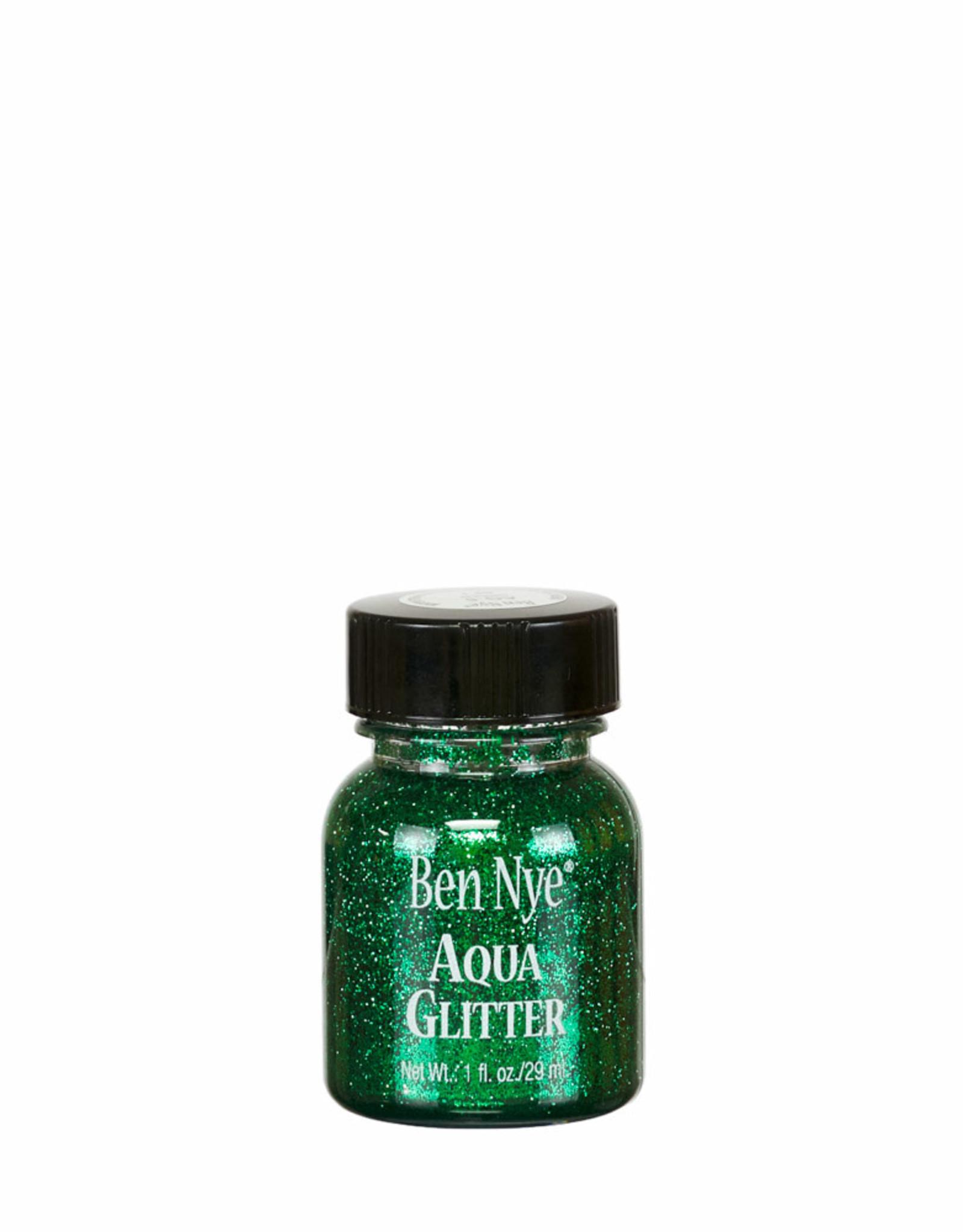 Ben Nye AQUA GLITTER, GREEN,1 FL OZ