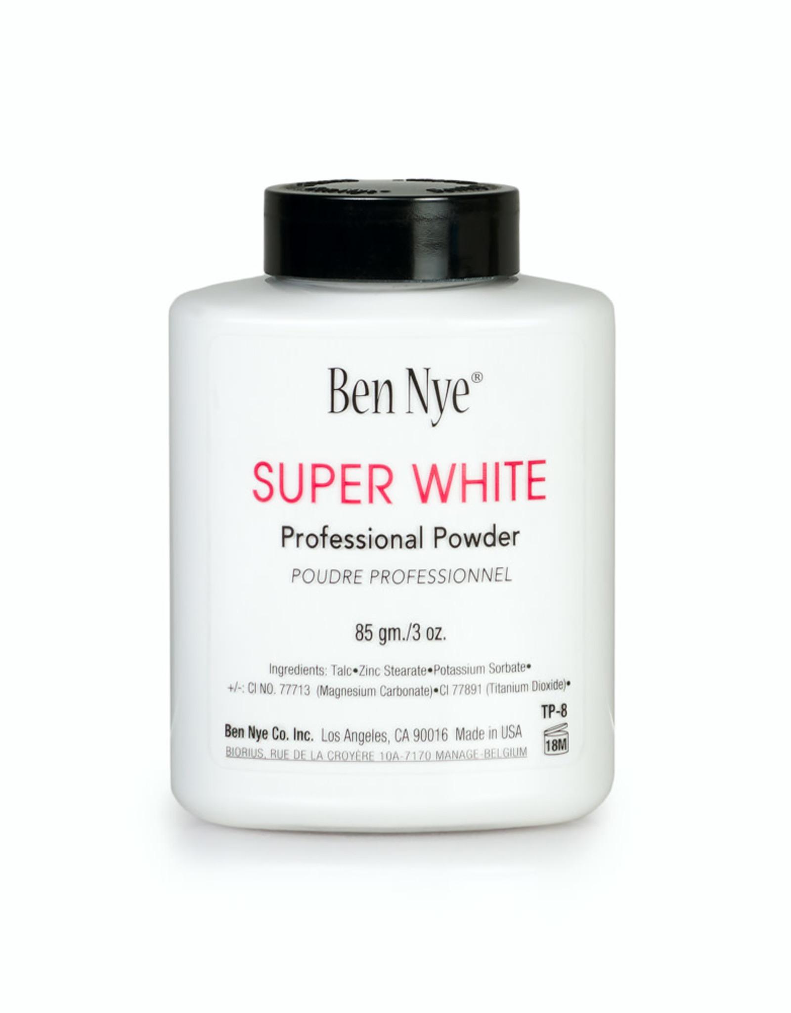 Ben Nye CLOWN-SUPER WHITE, FACE POWDER, 3 OZ